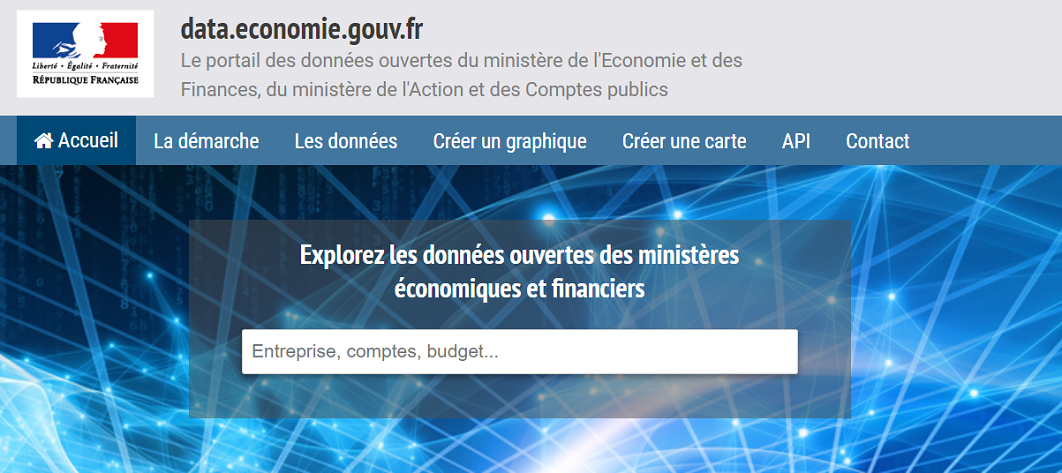 Site data.economie.gouv.fr